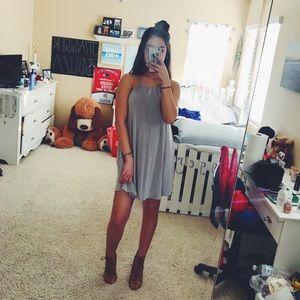 Light Gray Halter Dress